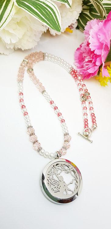 Fairy aromatherapy locket necklace