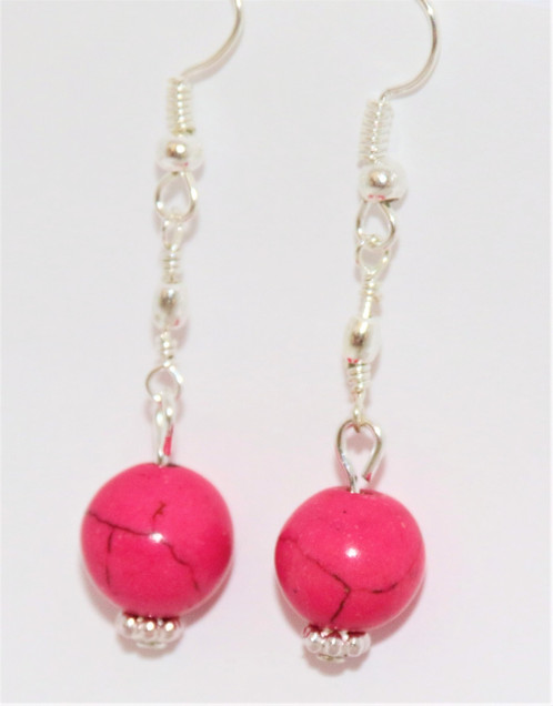 long s loading pink hot fuschia itm cluster earrings is purple flower drop dangle image