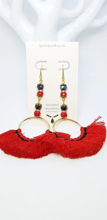 Redback earrings