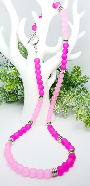 2 tone pink necklace