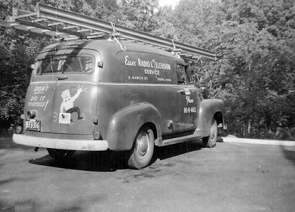 Essex Radio and Television Service's first truck in 1956.