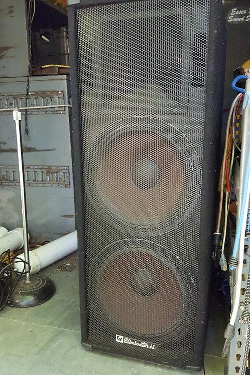 Pair of Electro-Voice Eliminator ii PA Speakers