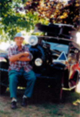 John Bevilacqua with his 1926 train sound car.