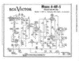 Schematic for RCA Victor Radio Model 6-HF-5