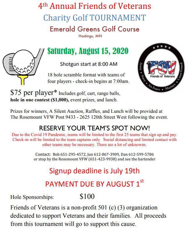 FOV 2020 Golf Tournament flyer official1