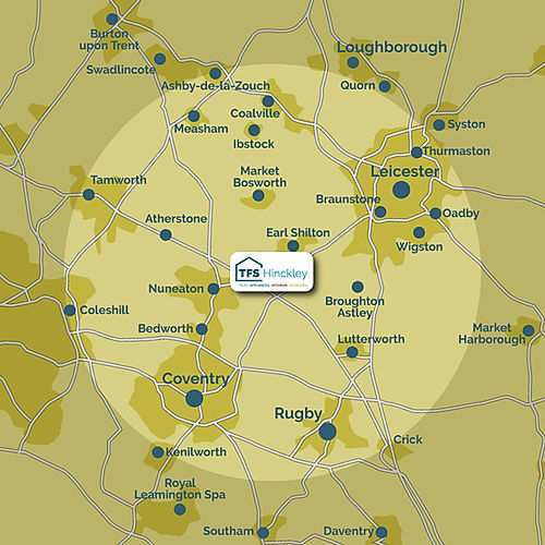 TFS Hinckley FREE delivery area coverage