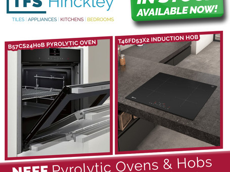 NEFF Pyrolytic Ovens & Hobs in stock