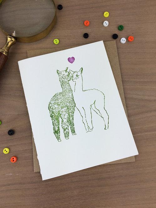 affectionate alpacas - set of 6