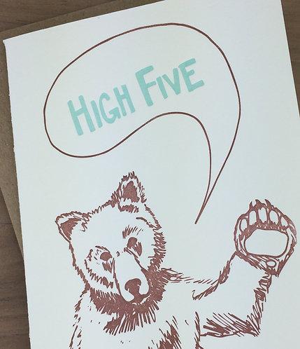 high five bear - set of 6