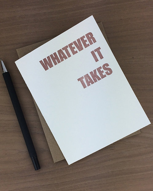 whatever it takes - set of 6
