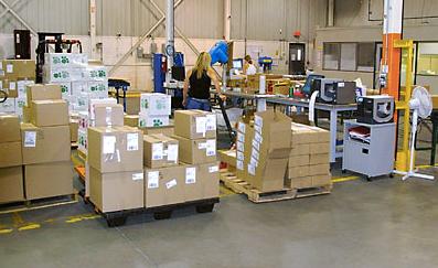 Inside fowarding warehouse