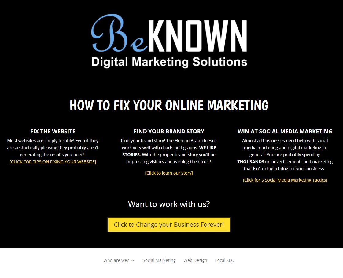 Be Known Marketing Capture
