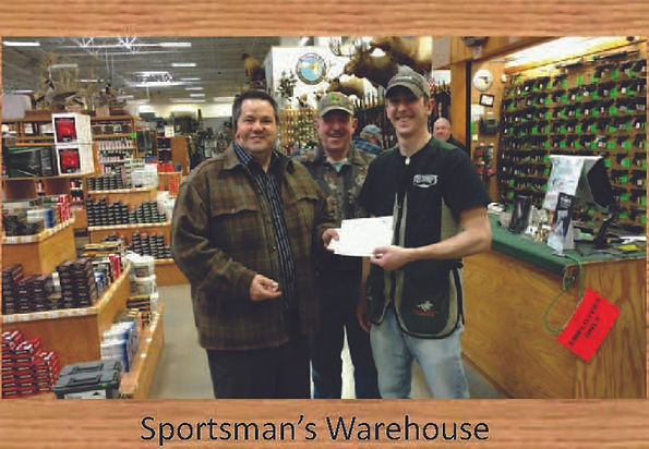 Supporting sportsman's Groups in Montana, PPSA Borard Member Tim Snyder gives Justin Morin a check for $500 for Fish-On MT. Check www.facebook.com/fishonMT for all work this group is doing.