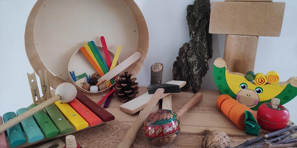 Knutselen en spelen met hout: (Groot)ouder - kindworkshop