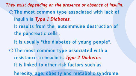 DIABETES AWARENESS MONTH - WHAT ARE THE MAIN TYPES OF DIABETES?