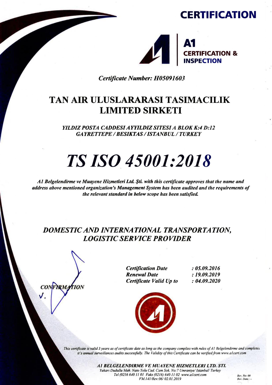 TS ISO 45001:2018