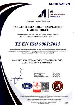 TSE EN ISO 9001:2015
