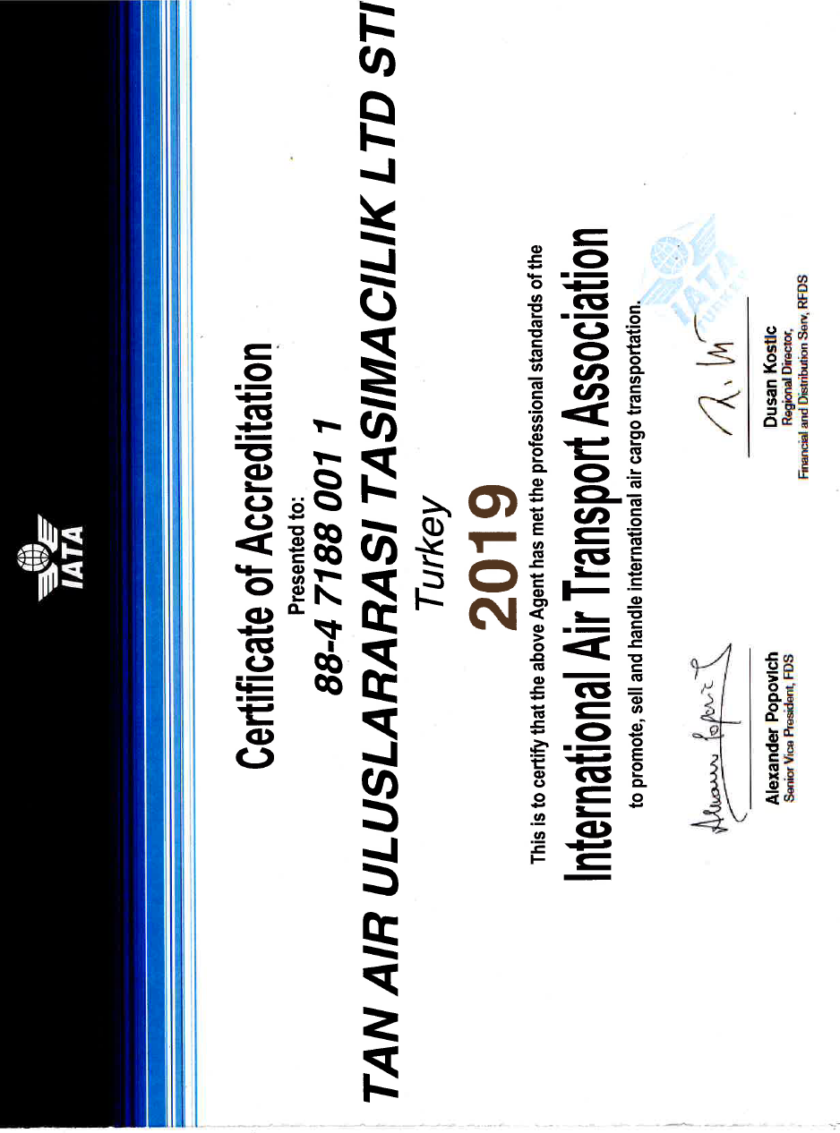 Certificate of Accreditation - IATA