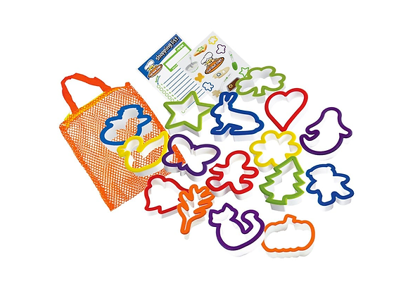 Toddler Cookie Cutter Set (16 Pieces)