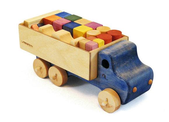 Wooden Blocks In A Truck