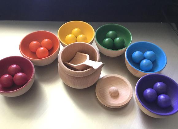 Colour Sorting - Balls And Bowls