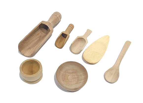 Wooden Sensory Bin Tool Kit