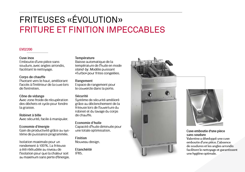 Friteuse Evolution