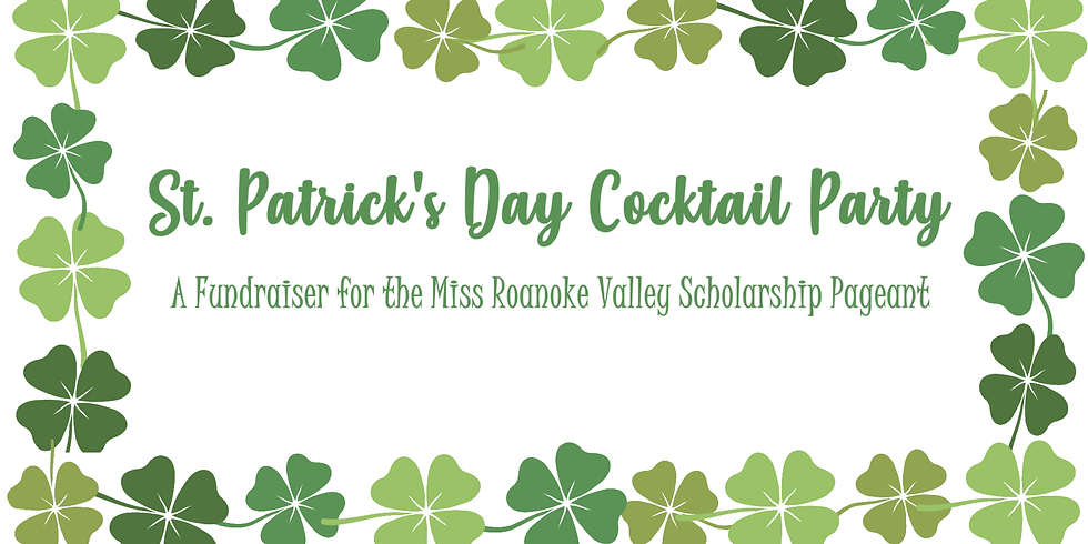St. Patrick's Day Cocktail Party & Fundraiser (CANCELLED)