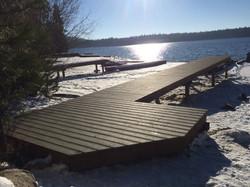 Docks during winter storage