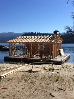 Structure of Floating BoatHouse