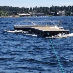 Removing dock for season