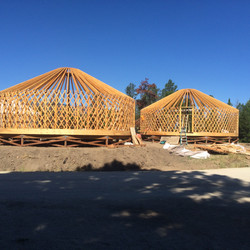 Structure build of Yurts