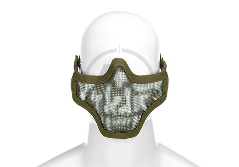 Steel Half Face Mask Death Head (Invader Gear)