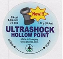 ULTRASHOCK HOLLOW POINT Cal. 6.35