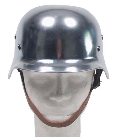 Casque WW II chrome