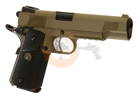 M1911 MEU Tactical Full Metal Desert GBB