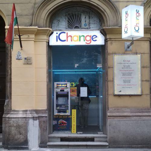 iChange üzlet bejárat