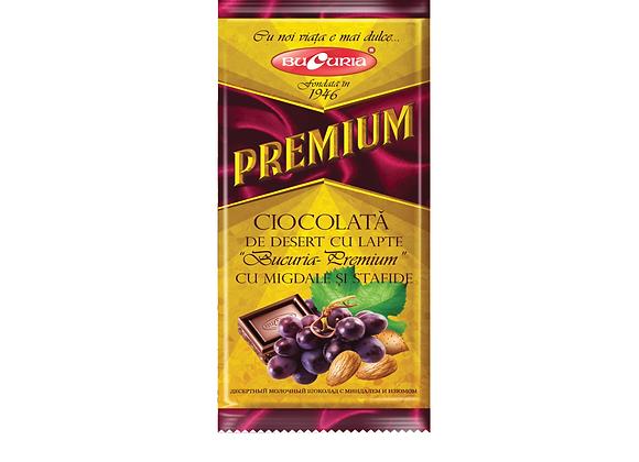 Шоколад Букурия премиум миндаль с изюмом (90 грамм)