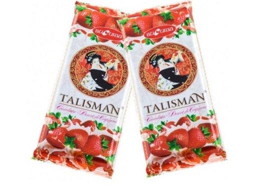 Шоколад Талисман Клубника (90 грамм)