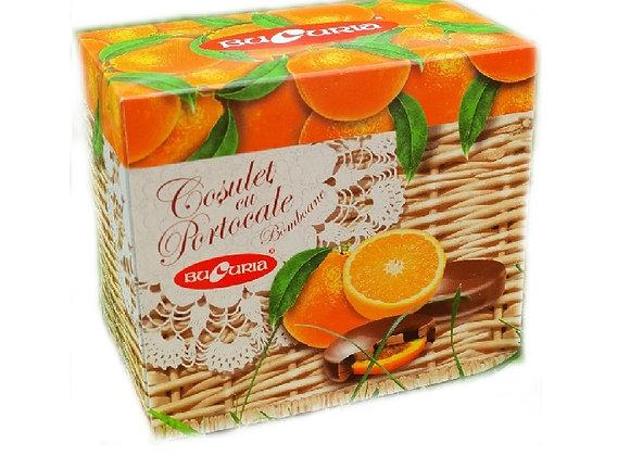 Корзинка с апельсином в шоколаде (200 грамм)