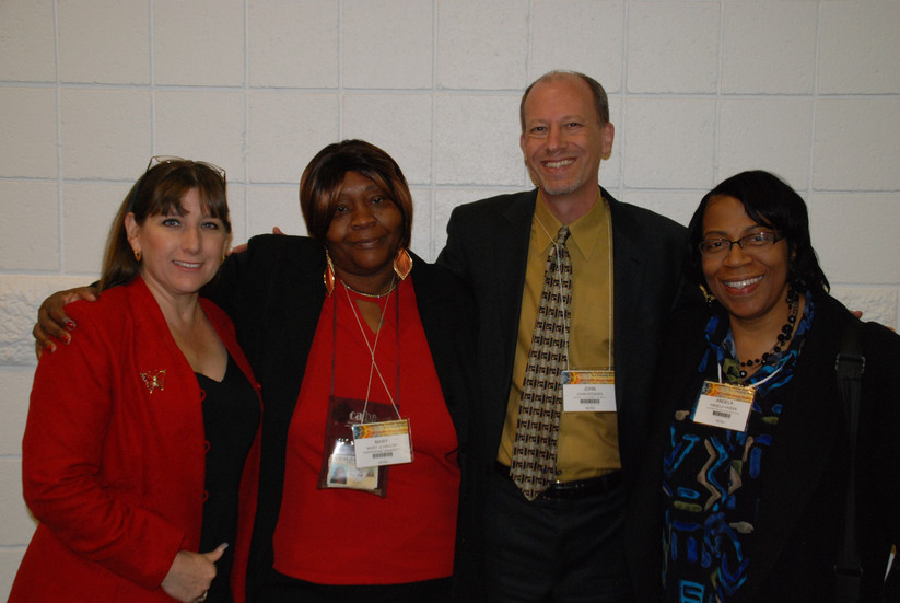 Dr. John Rogers, Director of UCLA's Institute for Democracy, Education, and Access; Dr. Angela Hasan, Assistant Professor of Clinical Education at USC Rossier; Valerie Munoz, Community Liaison at Lynwood Unified School District; and Mary Johnson, Parent Advocate and Founder of Parent U-Turn