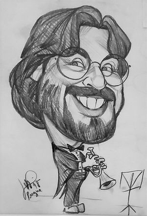Caricature of Mark Cox from Prague