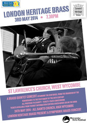 Concert poster London Heritage Brass