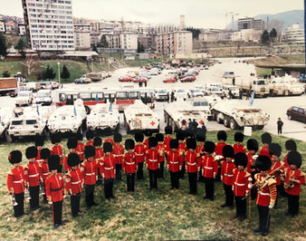 Coldstream Guards Band in Sarajevo, Bosnia