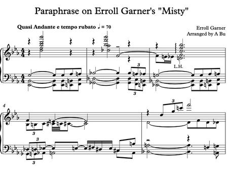 "Paraphrase on Erroll Garner's ""Misty"""