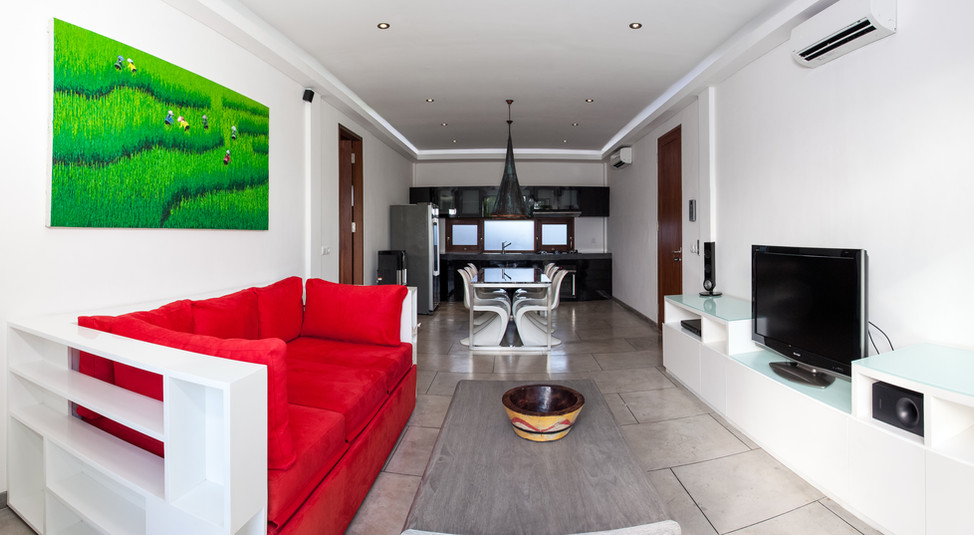 AB VILLAS - The living room of one bedroom apartment