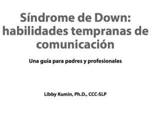 Sindrome de Down habilidades tempranas de comunicación