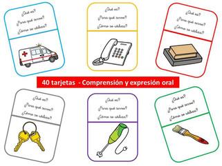 Tarjetas de comprensión y expresión