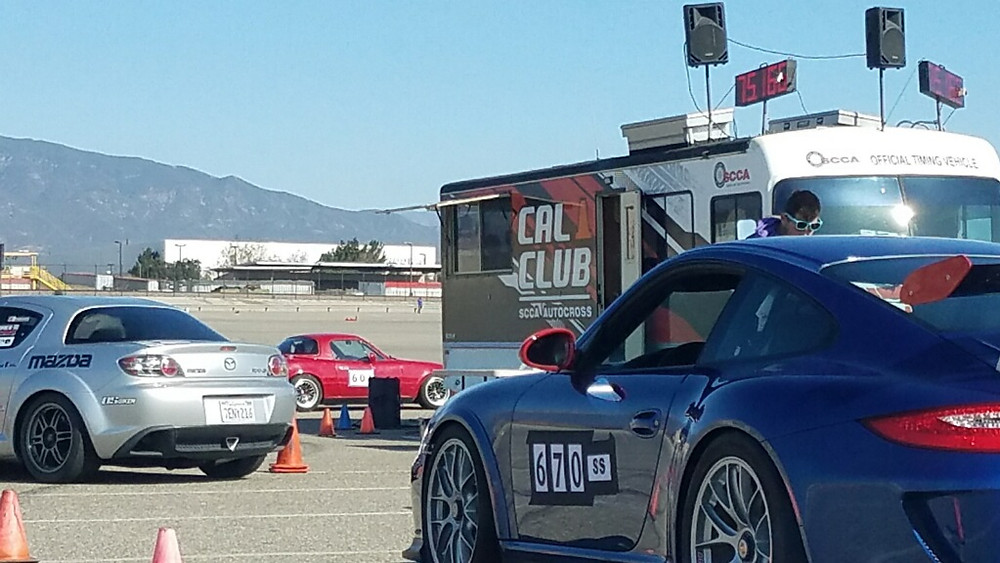 autocross cars at cal club