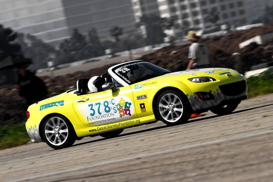cancer journeys foundation car competing at cal club autocross
